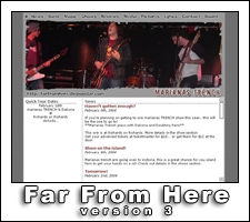 Far From Here: A Marianas Trench Fansite